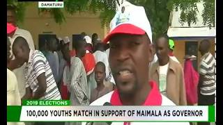 100,000 youths march in support of Maimala as governor