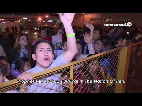 EXCLUSIVE  Prophet TB Joshua's ARRIVAL In Peru!   YouTube