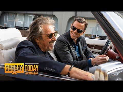 Watch Willie's Full Interview With Al Pacino Driving Around In A Cadillac | TODAY