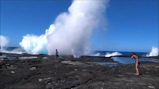 preview picture of video 'Samoa | Savaii, Vaimoana Seaside Lodge, Lava Fields, Blowholes'