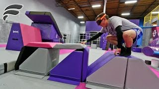 DRUNK GOGGLES TRAMPOLINE PARK OBSTACLE COURSE