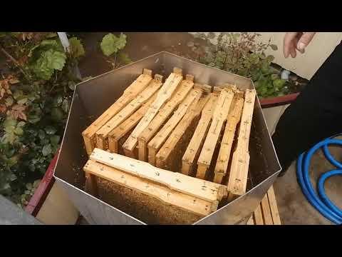 Как удалить старый мед из соторамок