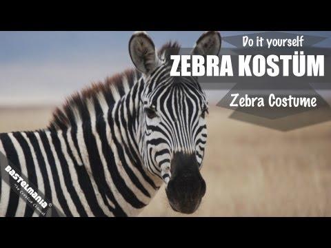 "Karnevalskostüm ""Zebra"" basteln / Carnival costume ""Zebra"" tinker"