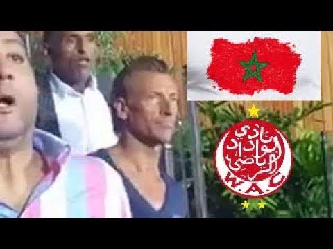 العرب اليوم - بالفيديو: انفعالات رونار في اللحظات الأخيرة من مباراة الوداد ووفاق سطيف