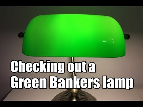 Quick look at a typical Bankers Lamp