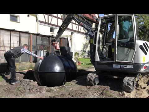 Einbau eines Regenwassertanks