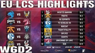 EU LCS Highlights ALL GAMES Week 6 Day 2 Full Day Highlights Summer 2018
