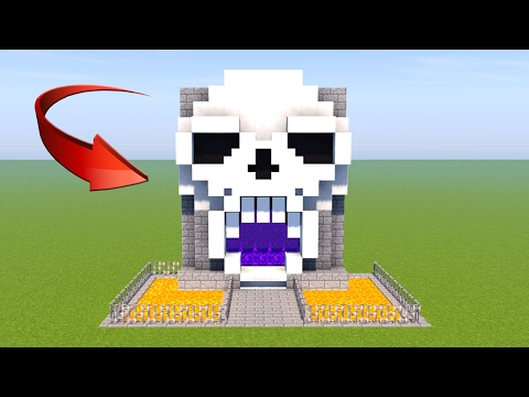 Custom Nether Portal - Minecraft: How to Make Skull Nether Portal