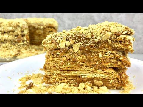 ДОМАШНИЙ торт НАПОЛЕОН со сгущенкой! Мой любимый РЕЦЕПТ! / NAPOLEON CAKE