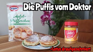 Dr. Oetker Apfel-Püfferchen Review | Lotus Biscoff Aufstrich passt gut!