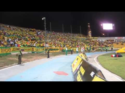 """""""Hoy Hay Que Ganar CARTAGENA RAVN"""" Barra: Rebelión Auriverde Norte • Club: Real Cartagena"""