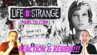 Life is Strange Before The Storm Trailer Reaction!!!