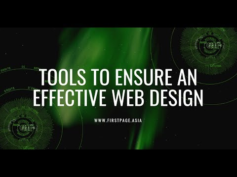 Tools to Ensure an Effective Web Design