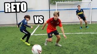O11CE vs BOCA JUNIORS | PARTIDO entre HERMANOS con ARCOS MINI!! Reto de Fútbol