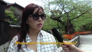 Travelers' Voice of Kyoto:GION Area Interview 001