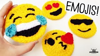 HOW TO CROCHET EMOJIS, DIY EMOJI FACES: Step By Step Crochet Tutorial  ♥ CROCHET LOVERS