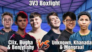 Mongraal, Unknown & Khanada VS Clix, Benjyfishy & Bugha | 3V3 Boxfight