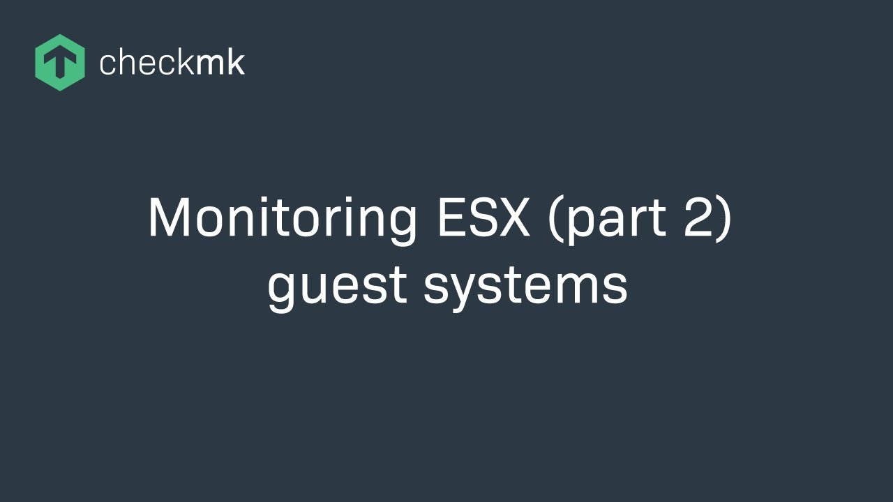 Monitoring von ESX Gastsystemen with Check_MK