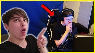 ANNOYING ROOMATE WHILE HE'S GAMING PRANK (so mad) | Colby Brock
