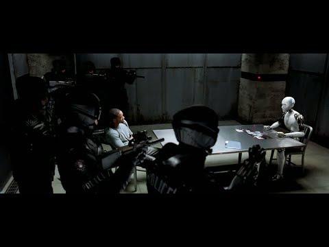 """Допрос Сани """"Я-Робот"""" Момент из фильма."""