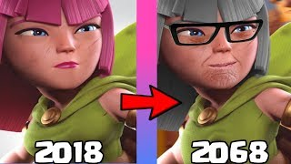 Clash Of Clans & Clash Royale troops after 50 years ft. Archer, Wizard, Valkyrie, Princess...