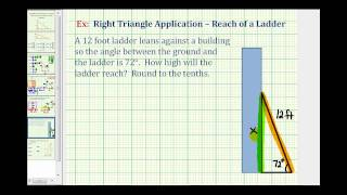 Find The Reach Of A Ladder - Right Triangle Application