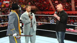 "Raw: R-Truth tells Mr. McMahon and ""Stone Cold"" he secedes"