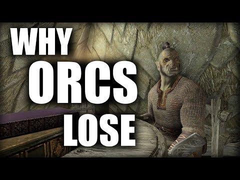 skyrim why the orcs always lose elder scrolls lore