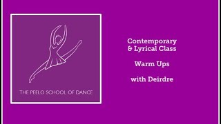 Contemporary & Lyrical class warm ups with Deirdre