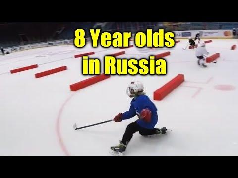 Amazing 7-8 Year Russian Hockey Prodigies