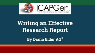 Writing an Effective Research Report