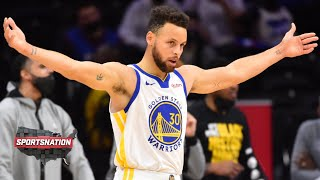 Steph Curry records 5th 40-point game in April to lift the Warriors over the 76ers   SportsNation