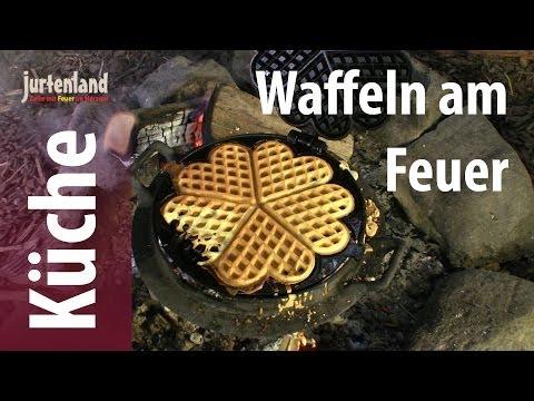 Kochen am Lagerfeuer - Waffeln mit dem Waffeleisen - Jurtenland