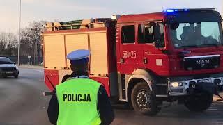 Dojazd Alarmowy Sił I środków Do Pożaru Hali.
