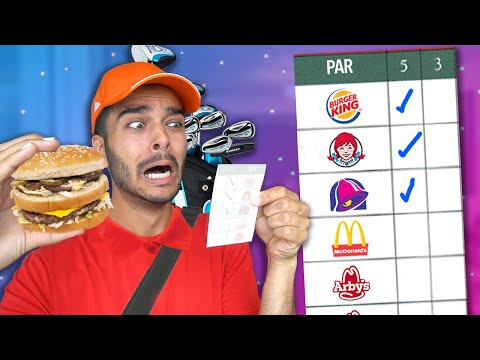 Eating at EVERY Fast Food Restaurant in 24 HOURS! (Fast Food GOLF CHALLENGE)