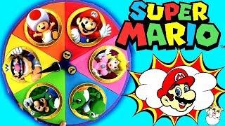 Juego De La Ruleta Sorpresa De Super Mario Bros - Encuentra El Tesoro Sorpresa   Con Lina Y Eva
