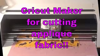 CRICUT MAKER: How To Use A SVG To Cut Applique Fabric For Embroidery😀