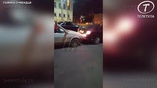 В Туле очевидец снял, как пьяный без прав скрывается с места ДТП