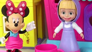 MINNIE MOUSE Tea Set Party with Friends & Baked Cookies