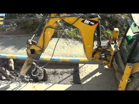 Caterpillar Pickhammer At Work