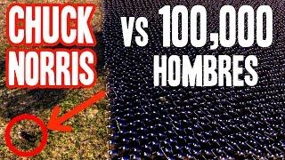 CHUCK NORRIS vs 100,000 HOMBRES | Simulador de Batallas Epicas Ultimate Epic Battle Simulator UEBS