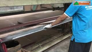 Dùng máy chà nhám băng để chà Veneer | WM-250S