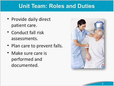 Staff Roles & Training for Your Fall Prevention Program: AHRQ Toolkit for Preventing Falls