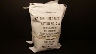 1998 US Ration Cold Weather From Stickyfingaz745 RCW 24 Hour MRE Review Military Pt 1 Breakfast