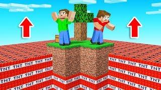 Minecraft SKYBLOCK But TNT Rises!