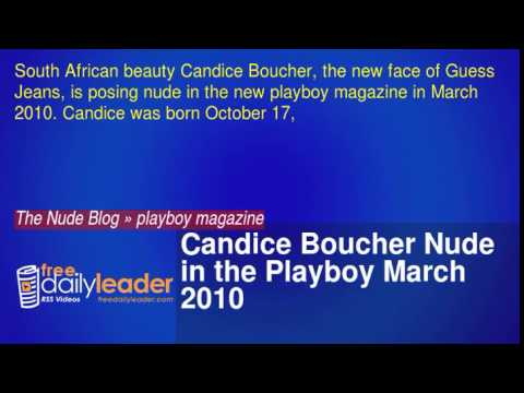 Candice Boucher Nude in the Playboy March 2010