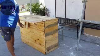 Wooden Folding Food Cart