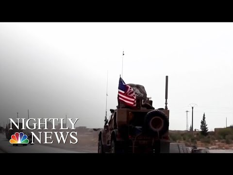 U.S. Troops Leaving Syria For Western Iraq As Kurds Pull Back Amid Cease-Fire | NBC Nightly News