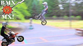 BMX vs MX Long Jump Challenge!!!