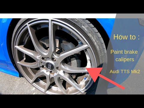 How to paint brake calipers (Audi TTS mk2 2009)
